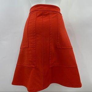 Women's Mossimo Size 4 A-Line Orange Skirt
